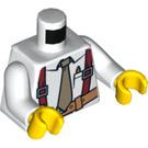 LEGO Shirt Torso With Tan Tie, Brown Suspenders (76382)