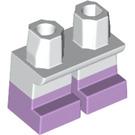 LEGO Short Legs with Short legs with lavendar feet (37679 / 41879)