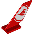 LEGO Shuttle Tail 2 x 6 x 4 with Decoration (6239 / 38860)