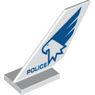 LEGO Shuttle Tail 2 x 6 x 4 with 'POLICE' and Eagle (6239 / 43218)