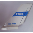 LEGO Shuttle Tail 2 x 6 x 4 with 'POLICE' and 'NN-7741' Sticker (6239)