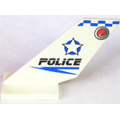LEGO Shuttle Tail 2 x 6 x 4 with 'POLICE', Star, Red and Blue Dot (Both Sides) (6239)
