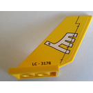 LEGO Shuttle Tail 2 x 6 x 4 with White Airline Bird and 'LC - 3178' Pattern on Both Sides Sticker (6239)