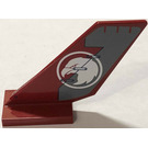 LEGO Shuttle Tail 2 x 6 x 4 with White Eagle Head in Circle Pattern on Both Sides Sticker (6239)