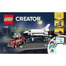 LEGO Shuttle Transporter Set 31091 Instructions