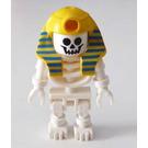 LEGO Skeleton with Yellow Mummy Headdress Minifigure