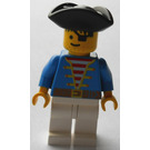 LEGO Skull's Eye Schooner Pirate with Blue Jacket Minifigure