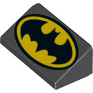 LEGO Slope 1 x 2 (31°) with Batman Logo with Head to Thick End (36207 / 85984)