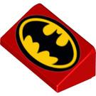 LEGO Slope 1 x 2 (31°) with Classic Batman Logo (29094 / 85984)