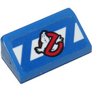 LEGO Slope 1 x 2 (31°) with Ghostbusters Logo Sticker (85984)