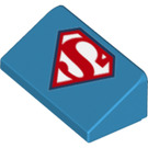 LEGO Slope 1 x 2 (31°) with Red superman symbol (34559 / 85984)