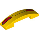 LEGO Slope 1 x 4 Curved Double with Decoration (33630 / 93273)