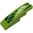 LEGO Slope 1 x 4 Curved with Green and White Scales (Right) Sticker (11153)