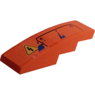 LEGO Slope 1 x 4 Curved with Half Panel, Electricity Warning, and Paint Splashes Sticker (11153)