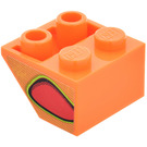 LEGO Slope 2 x 2 (45°) Inverted with Red Flame-Bubble (Left) Sticker (3660)