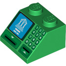 LEGO Slope 2 x 2 (45°) with ATM Display and Keypad Decoration (3039 / 21643)