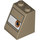 LEGO Slope 2 x 2 x 2 (65°) with Sarge's Eye with Stud Holder (3678 / 94792)