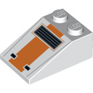 LEGO Slope 2 x 3 (25°) with Orange Snowspeeder with Rough Surface (13334 / 19390)