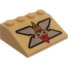 LEGO Slope 25° (33) 3 x 4 with Xtreme Stunts Logo (3297)