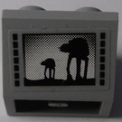 LEGO Slope 45° 2 x 2 Inverted with Large and Small AT-AT Sticker