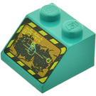 LEGO Slope 45° 2 x 2 with Rock Raiders Screen Pattern (3039)
