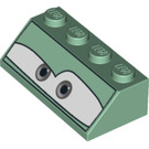 LEGO Slope 45° 2 x 4 with Decoration with Rough Surface (96164)
