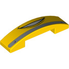 LEGO Slope Curved 4 x 1 Double with Decoration (93273 / 94877)