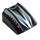 LEGO Slope Curved Top 2 x 2 x 1 with Silver and Black Streeks (30602)