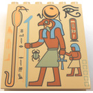 LEGO Sloped Panel 6 x 4 x 6 with Egyptian Person (30156)