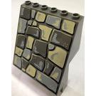 LEGO Sloped Panel 6 x 4 x 6 with sloped rock pattern Decoration (30156)