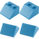 LEGO Sloping Roof Bricks 2 x 2 Set (Blue) 282