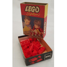 LEGO Sloping Roof Bricks Set (Red) 281-1