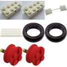 LEGO Small Wheels with accessories Parts Pack Set 900-2