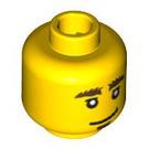 LEGO Smiling/Cringing Minifigure Head with Bushy Eyebrows (Safety Stud) (10477 / 14755)