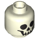 LEGO Smiling Skeleton Head (Recessed Solid Stud) (10717 / 10879)