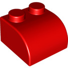 LEGO Soft 2 x 2 with Curve Red (50854 / 71727)