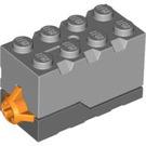 LEGO Sound Brick 2 x 4 x 2 with 10196 Grand Carousel Sound and Medium Stone Grey Top (85614)