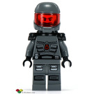 LEGO Space Police 3, Officer with Airtanks and Black Epaulettes Minifigure
