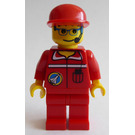 LEGO Space Shuttle Team Member with red Overalls Minifigure