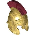 LEGO Spartan Warrior Hoplite Helmet - Minifigure (92158)