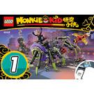 LEGO Spider Queen's Arachnoid Base Set 80022 Instructions