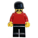 LEGO Sports - Red Torso, Black Cap, Beard Minifigure