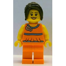 LEGO Spring Time Scene Female with Floral Blouse and Ponytail Minifigure