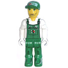 LEGO Station Mechanic with Green Overalls Minifigure