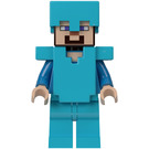 LEGO Steve with armor Minifigure