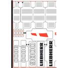 LEGO Sticker Sheet 1 for Set 42100 (64870)