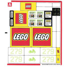 LEGO Sticker Sheet 1 for Set 60097 (20814)
