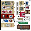 LEGO Sticker Sheet 1 for Set 76108 (38535)