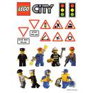 LEGO Sticker Sheet - Daily Mirror Promotional City Set