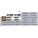 LEGO Sticker Sheet for Set 10022 (45443)
